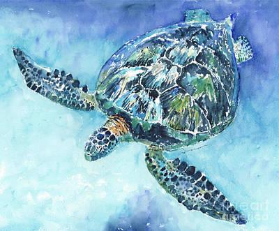 Painting - Sea Turtle No. 21 by Claudia Hafner