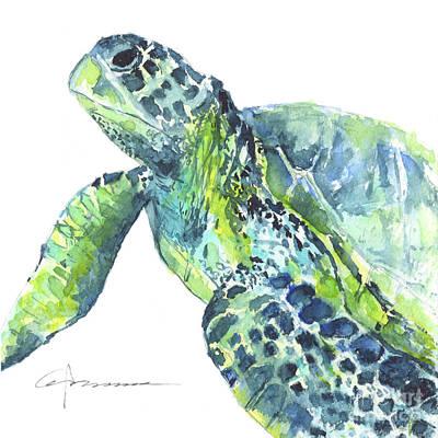 Painting - Sea Turtle No 23 by Claudia Hafner