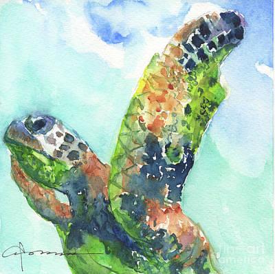 Painting - Sea Turtle No. 27 by Claudia Hafner