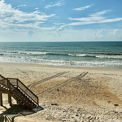 Photograph - Sea Turtle Tracks Surf City Topsail Island N by Flippin Sweet Gear