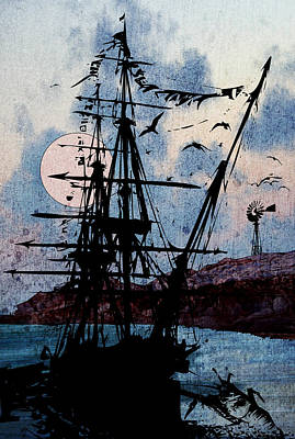 Digital Art - Seafarer by Jason Casteel