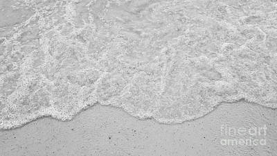 Photograph - Seafoam And Sand Bw by Rachel Hannah