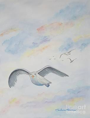 Seagull In The Clouds Original