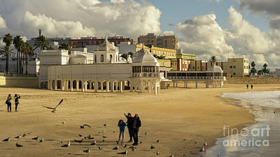 Photograph - Seagulls At Caleta Beach Cadiz Spain by Pablo Avanzini