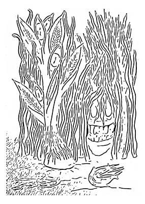 Drawing - Seahorse By Delynn Addams by Delynn Addams