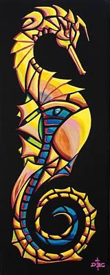 Painting - Seahorse Grandeur by David Bader