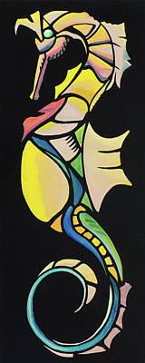 Painting - Seahorse Jewel 071218 by David Bader