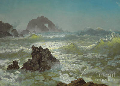 Painting - Seal Rock, California, 1872  by Albert Bierstadt