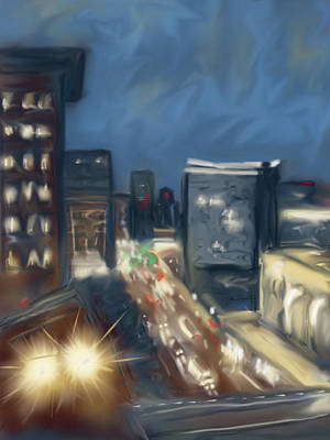 Painting - Seaport In The Rain 5am by Jean Pacheco Ravinski