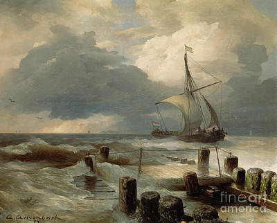 Painting - Seascape, 1894  by Andreas Achenbach
