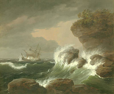 Painting - Seascape, 1835 by Thomas Birch