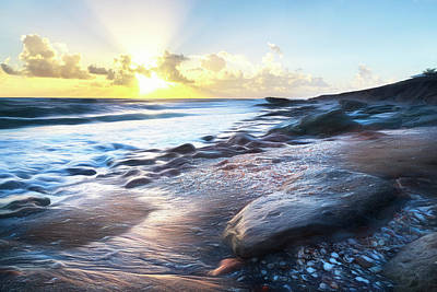 Photograph - Seashells On The Seashore Watercolors by Debra and Dave Vanderlaan