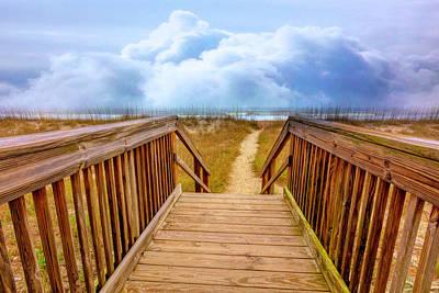 Photograph - Seaside Dunes by Debra and Dave Vanderlaan