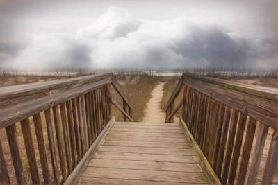 Photograph - Seaside Dunes Painting by Debra and Dave Vanderlaan