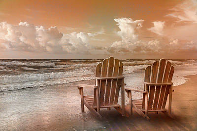 Photograph - Seaside In Soft Sepia by Debra and Dave Vanderlaan
