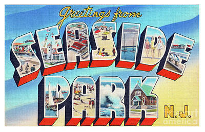 Photograph - Seaside Park Greetings - Version 2 by Mark Miller