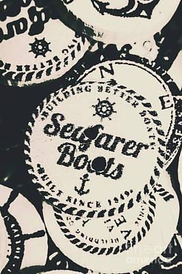 Seaside Sailors Badge Art Print