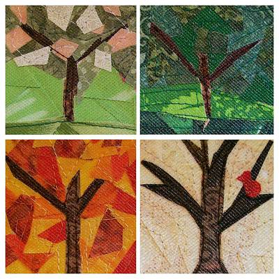 Tapestry - Textile - Seasons by Pam Geisel