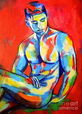Painting - Seated Boy Study by Helena Wierzbicki