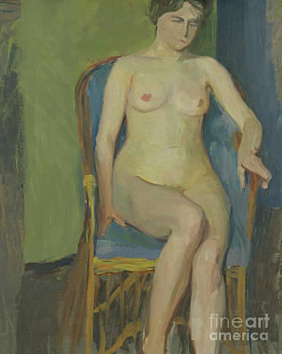 Painting - Seated Nude By Franz Nolken by Franz Nolken