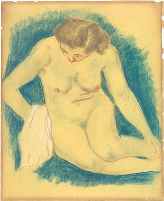 Outerspace Patenets Rights Managed Images - Seated Nude Seen from Above 1888 89 Royalty-Free Image by Paul Gauguin