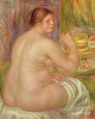 Painting - Seated Nude, The Pregnant Woman  by Pierre Auguste Renoir