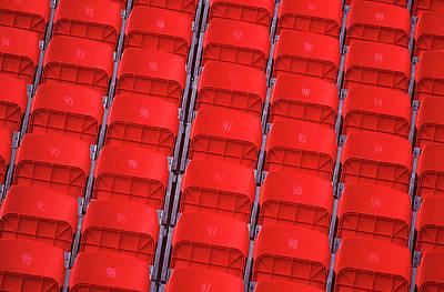 Photograph - Seats At A Sports Stadium - Detail by Warwick Kent