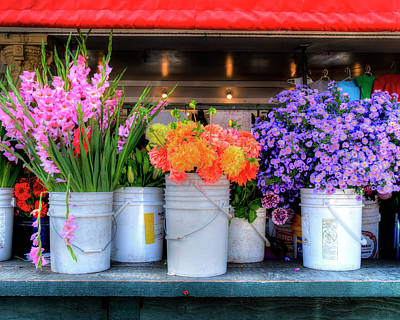 Photograph - Seattle Flower Market by John Rodrigues