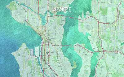 Digital Art - Seattle by Gary Grayson