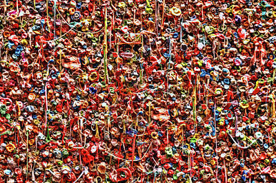 Photograph - Seattle Gum Wall # 2 by Allen Beatty