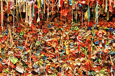 Photograph - Seattle Gum Wall # 3 by Allen Beatty