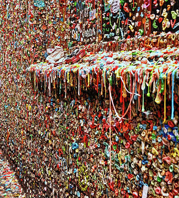 Photograph - Seattle Gum Wall # 4 by Allen Beatty
