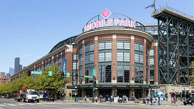 Photograph - Seattle Mariners Baseball T-mobile Park Seattle Washington R1454 Long by Wingsdomain Art and Photography