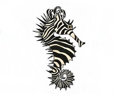 Fish Wall Art - Mixed Media - Seazebra Digital1  by Joan Stratton