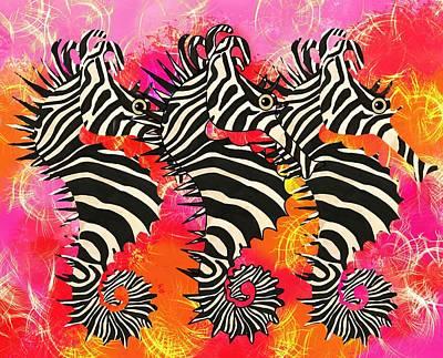 Fish Wall Art - Mixed Media - Seazebra Digital11 by Joan Stratton