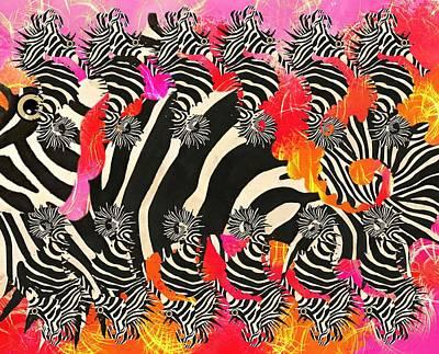 Fish Wall Art - Mixed Media - Seazebra Digital12 by Joan Stratton
