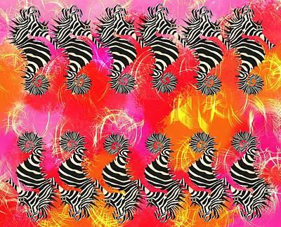 Fish Wall Art - Mixed Media - Seazebra Digital13 by Joan Stratton