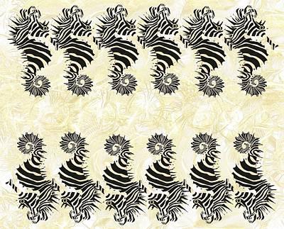 Fish Wall Art - Mixed Media - Seazebra Digital14 by Joan Stratton