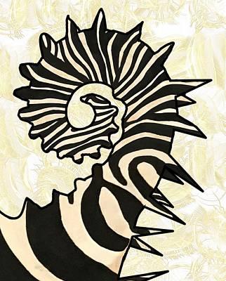 Fish Wall Art - Mixed Media - Seazebra Digital15 by Joan Stratton