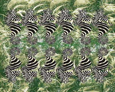 Green Wall Art - Mixed Media - Seazebra Digital16 by Joan Stratton
