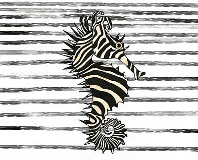 Fish Wall Art - Mixed Media - Seazebra Digital6 by Joan Stratton