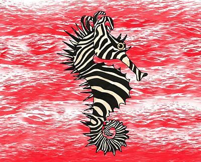 Fish Wall Art - Mixed Media - Seazebra Digital7 by Joan Stratton