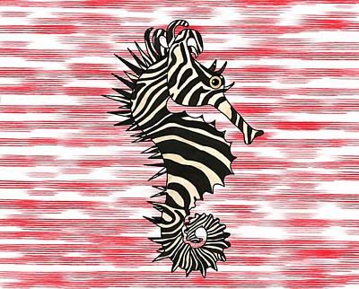 Fish Wall Art - Mixed Media - Seazebra Digital8 by Joan Stratton