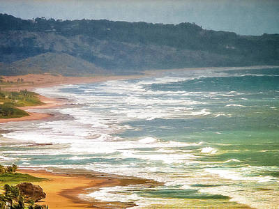 Digital Art - Secluded California Beach by Max Huber