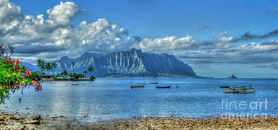 Photograph - Seclusion 2 Kaneohe Bay Oahu Hawaii Collection Art  by Reid Callaway