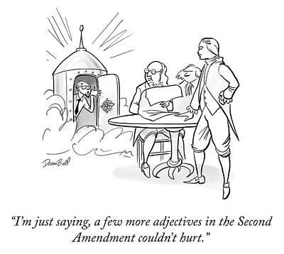 Cod Drawing - Second Amendment by Darrin Bell