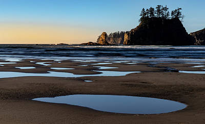 Art Print featuring the photograph Second Beach by Ed Clark