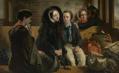 Painting - Second Class - The Parting - Thus Part We Rich In Sorrow Parting Poor by Abraham Solomon