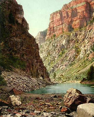 Photograph - Second Tunnel, Grand River Canyon by Detroit Photographic Company