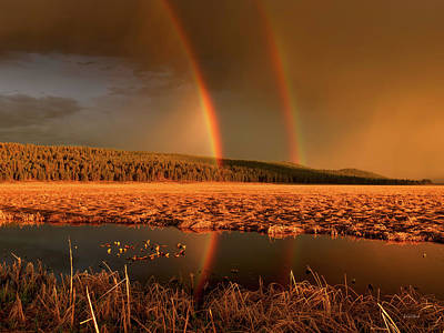 Photograph - Secondary Rainbow Reflection by Leland D Howard